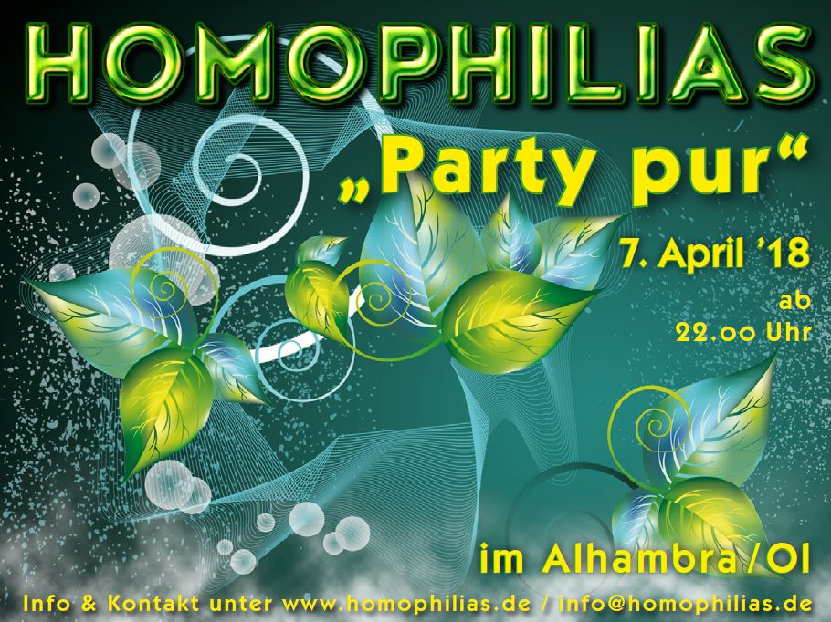 Party pur am 7. April 2018
