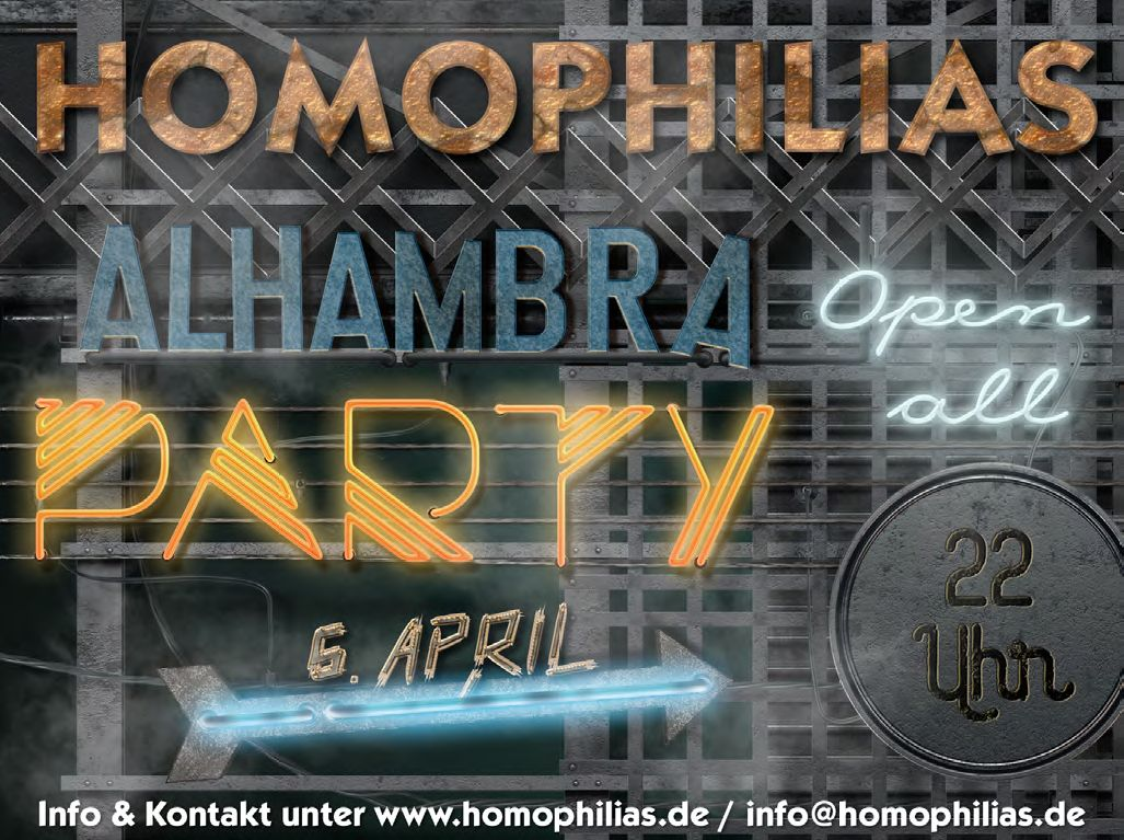 Party pur am 6. April 2019